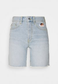 Fiorucci - ICON ANGELS SHORTS LIGHT VINTAGE - Denim shorts - light vintage - 0