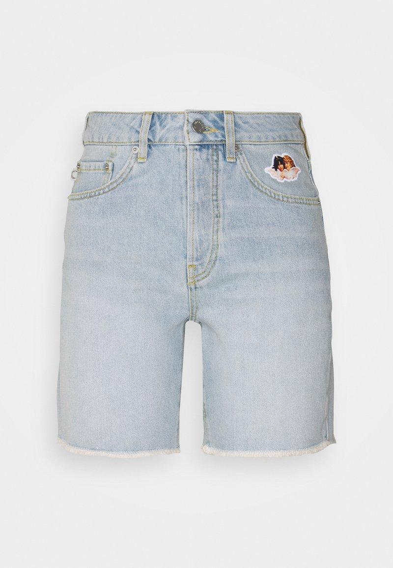 Fiorucci - ICON ANGELS SHORTS LIGHT VINTAGE - Denim shorts - light vintage