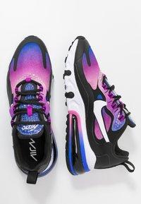 Nike Sportswear - AIR MAX 270 REACT - Sneakersy niskie - hyper blue/white/magic flamingo/vivid purple/black - 3
