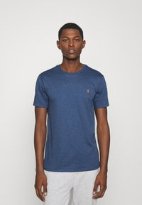 Polo Ralph Lauren - CUSTOM SLIM SOFT COTTON TEE - Basic T-shirt - derby blue heather - 0