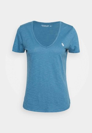 ICON VNECK TEE - Basic T-shirt - blue