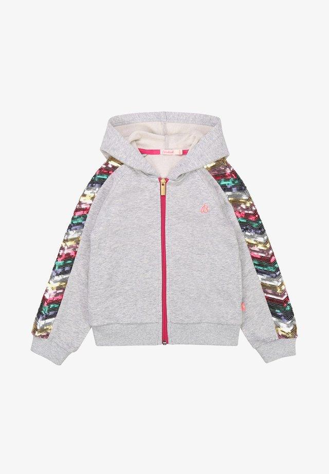 veste en sweat zippée - gris chine