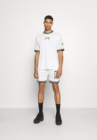 The Couture Club - VARSITY BADGED MESH OVERSIZED T-SHIRT - Print T-shirt - white - 1