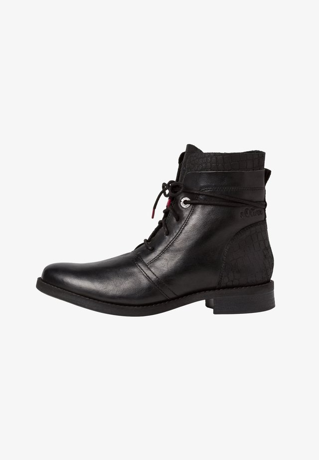 STIEFELETTE - Lace-up ankle boots - black