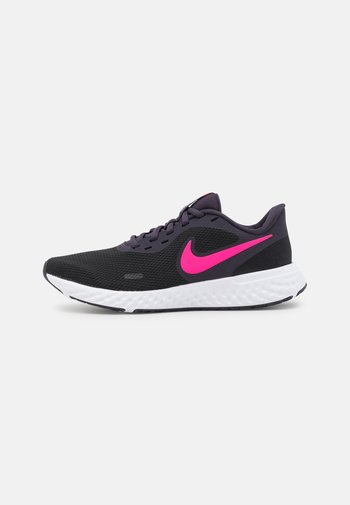 REVOLUTION 5 - Neutral running shoes - black/hyper pink/cave purple/lilac/white