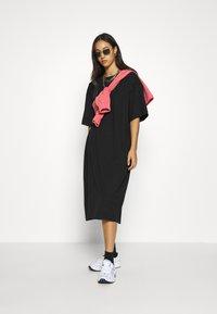 Weekday - INES DRESS - Jersey dress - black - 1