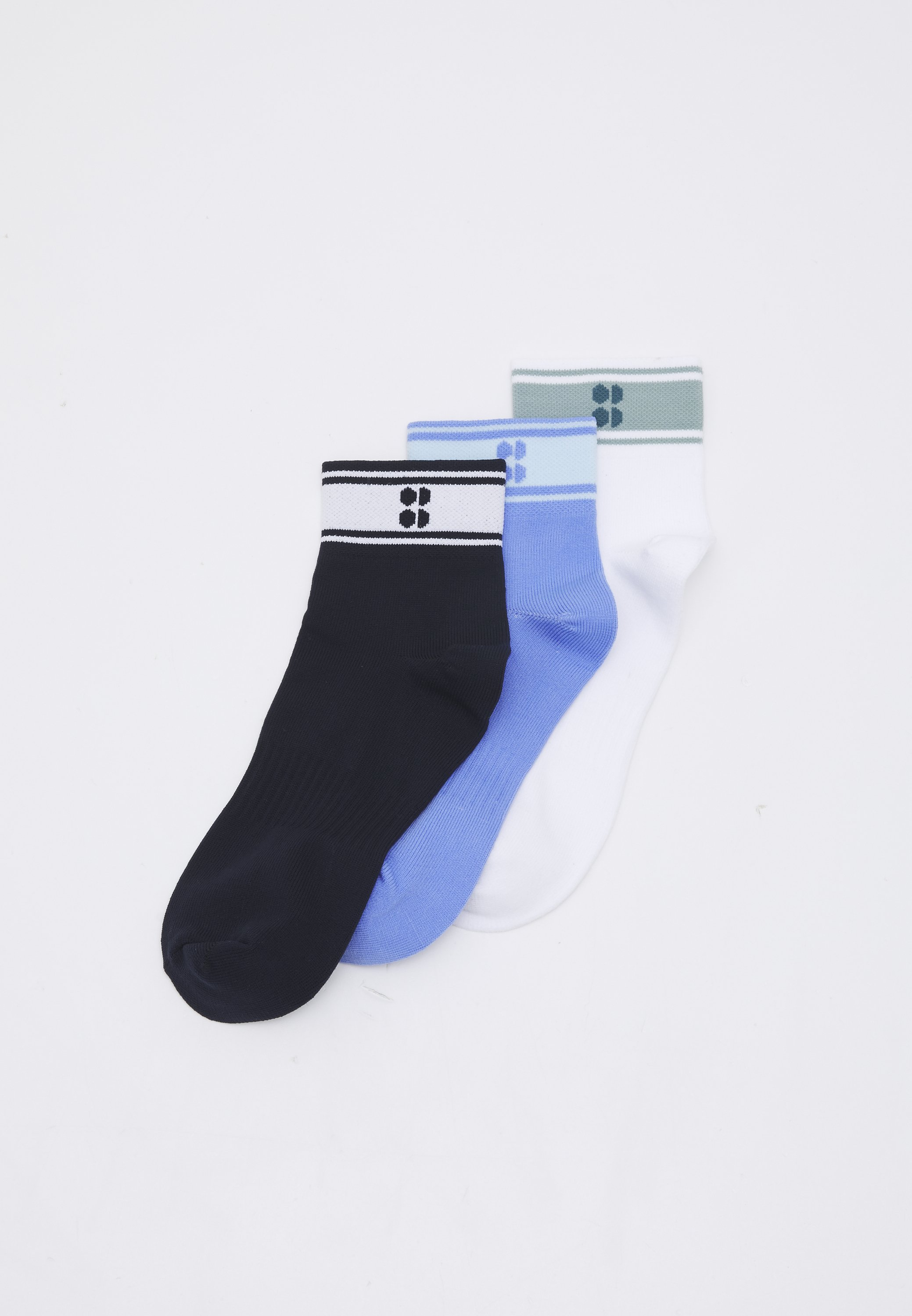 Donna STRIPED ANKLE SOCKS SUSTAINABLE 3 PACK  - Calze sportive