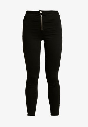 VICE BUTTON UP WITH ANKLE ZIP - Jeans Skinny Fit - black