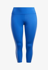 adidas Performance - BELIEVE THIS 3-STRIPES 7/8 LEGGINGS (PLUS SIZE) - Legging - blue - 8