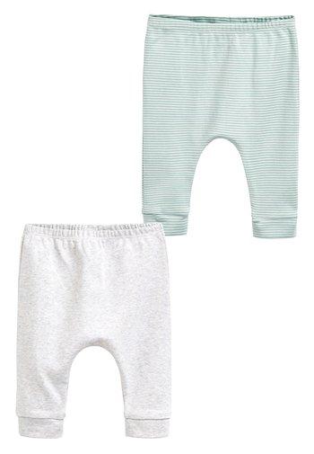 MINT 2 PACK GOTS ORGANIC LEGGINGS (0-12MTHS) - Leggings - Trousers - grey