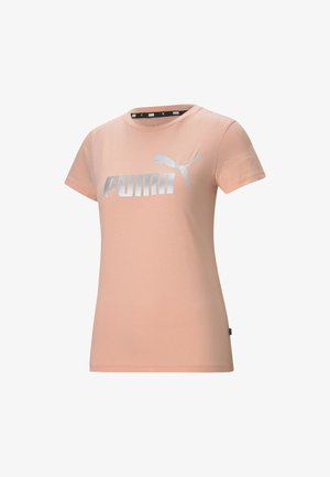 ESSENTIALS+ METALLIC  - Print T-shirt - apricot blush-silver