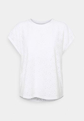 ONLSMILLA - Camiseta estampada - cloud dancer