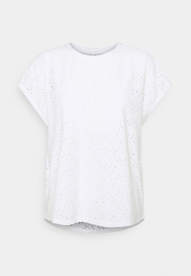 ONLSMILLA - T-shirt con stampa - cloud dancer