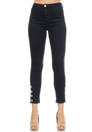 MIT GOLDKNÖPFEN - Jeans Skinny Fit - black
