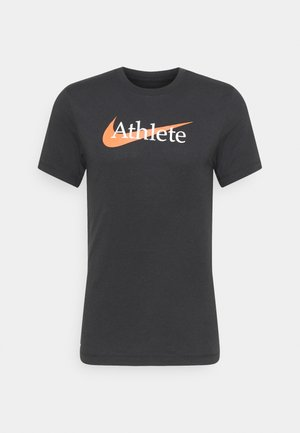 TEE ATHLETE - Triko s potiskem - black/team orange