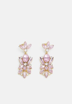 PCLEONIA EARRINGS - Oorbellen - gold-coloured/rose/clear