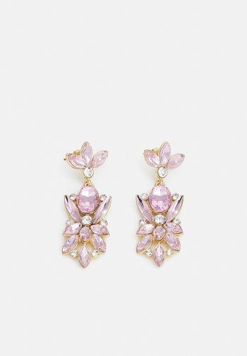 PCLEONIA EARRINGS - Earrings - gold-coloured/rose/clear