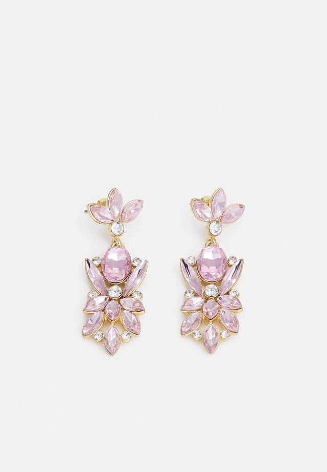PCLEONIA EARRINGS - Kolczyki - gold-coloured/rose/clear