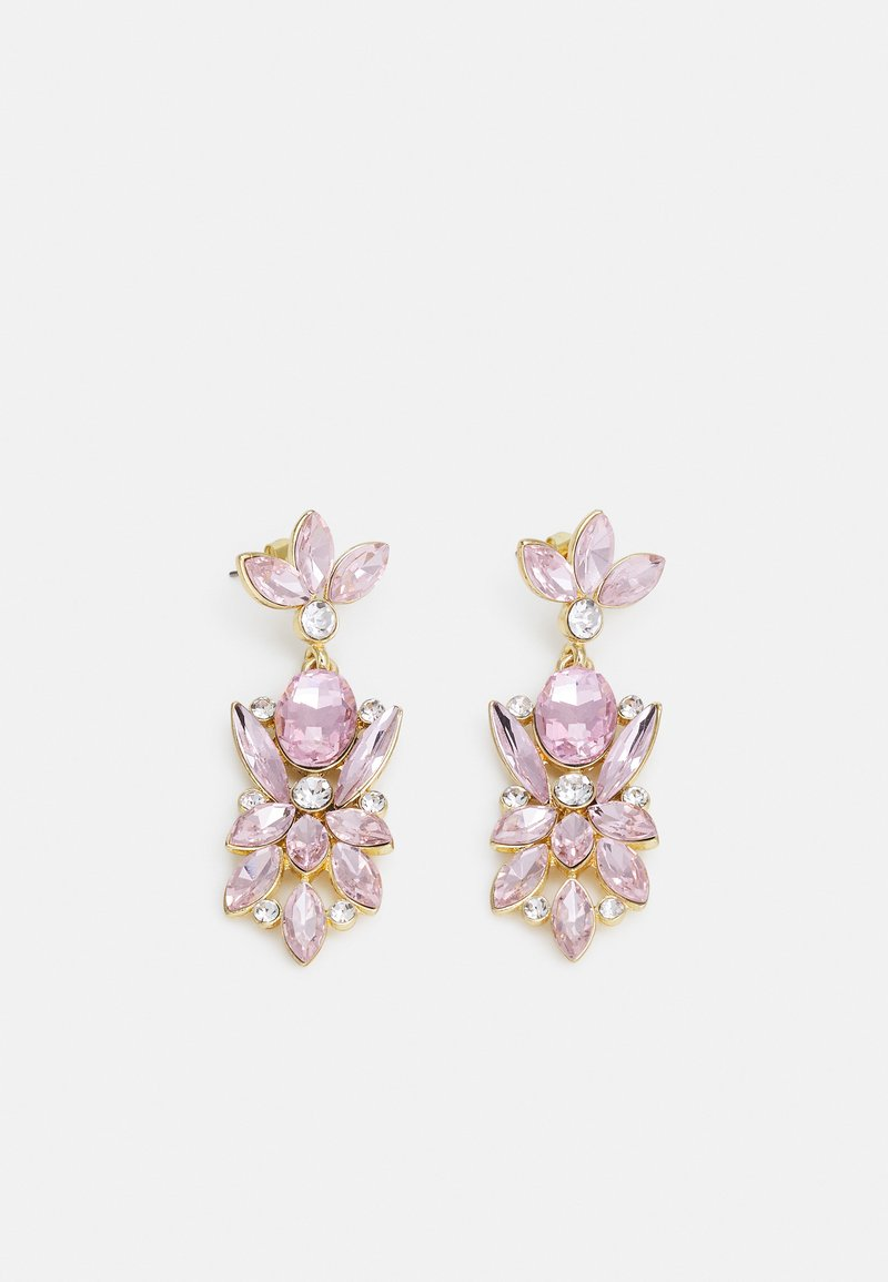 Pieces - PCLEONIA EARRINGS - Earrings - gold-coloured/rose/clear