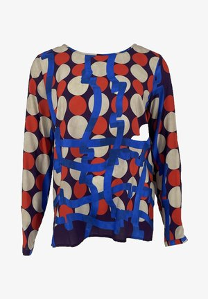 Blouse - sugar red/electric blue