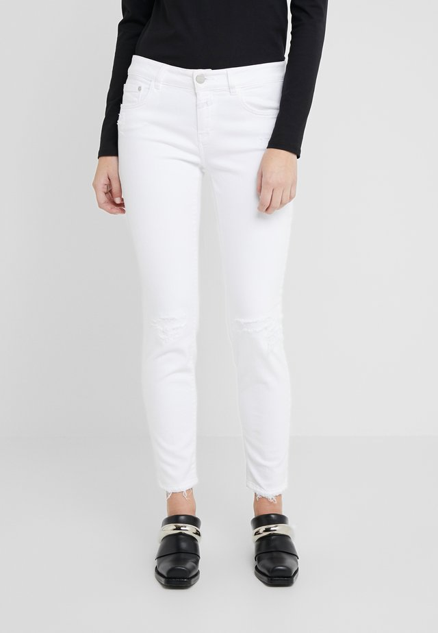 BAKER  MID WAIST CROPPED LENGTH - Slim fit jeans - white