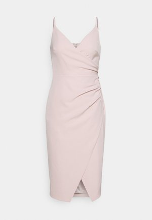 ALEXA RUCHED WRAP PENCIL DRESS - Cocktail dress / Party dress - blush