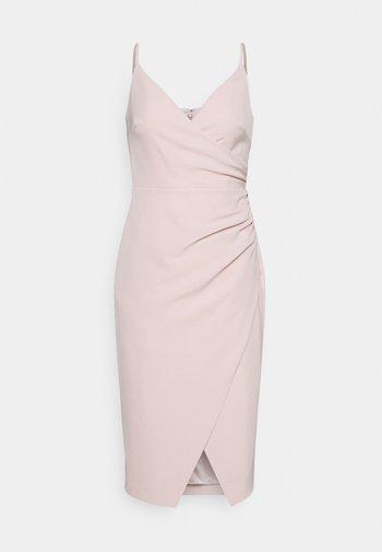 ALEXA RUCHED WRAP PENCIL DRESS - Koktejlové šaty/ šaty na párty - blush