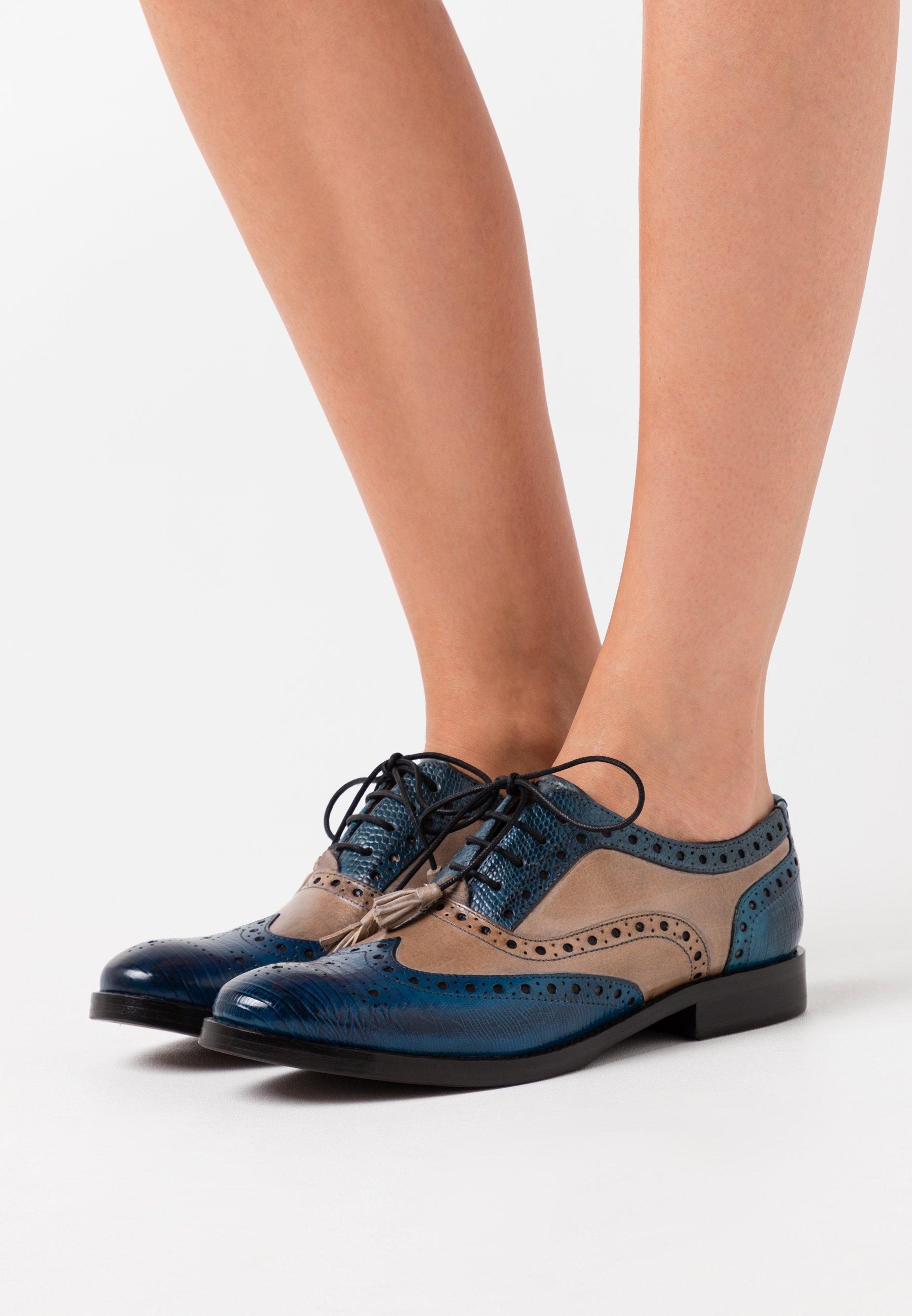 Melvin & Hamilton SELINA - Slippers - maroccan blue/olivine