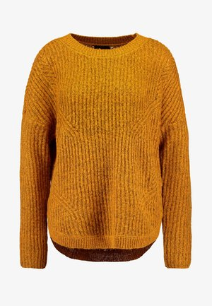 ONLBERNICE ROUND - Stickad tröja - golden glow/melange