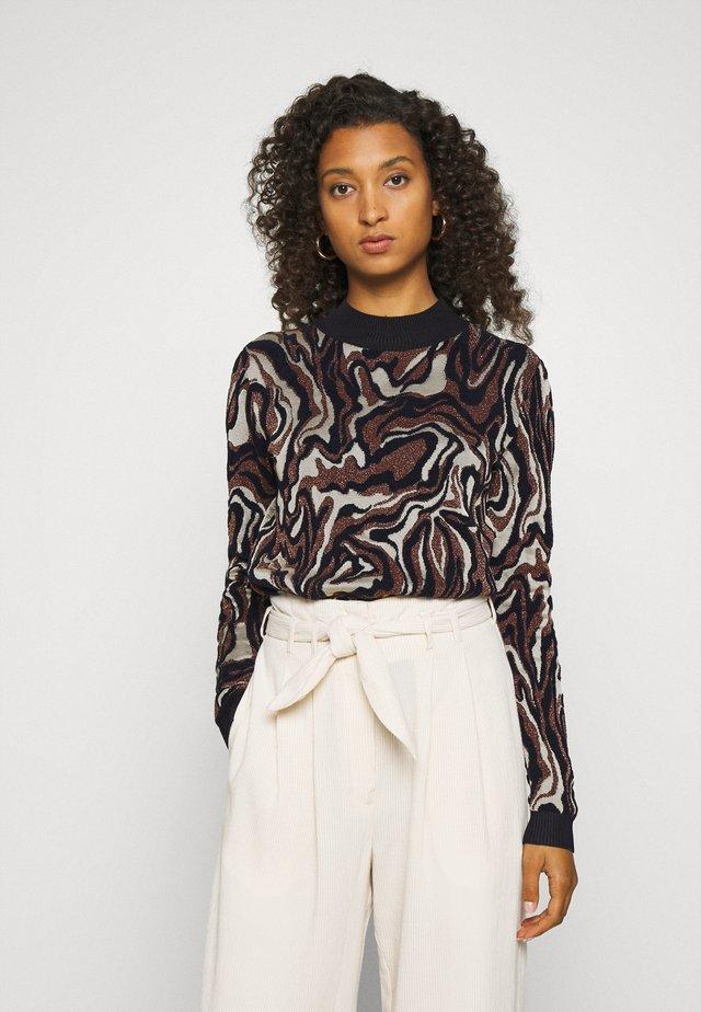 MARBLE JACQUARD - Pullover - black