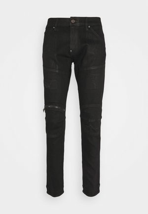 3D ZIP KNEE SKINNY - Vaqueros pitillo - black radiant