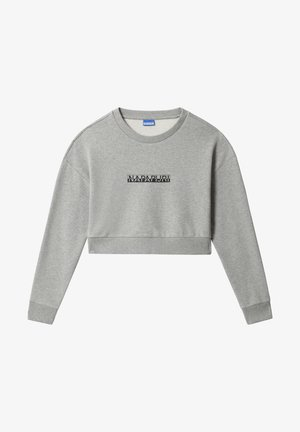 B-BOX CROPPED - Sweatshirt - medium grey melange
