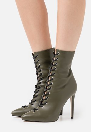 VELERY TOP UP - High Heel Stiefelette - khaki