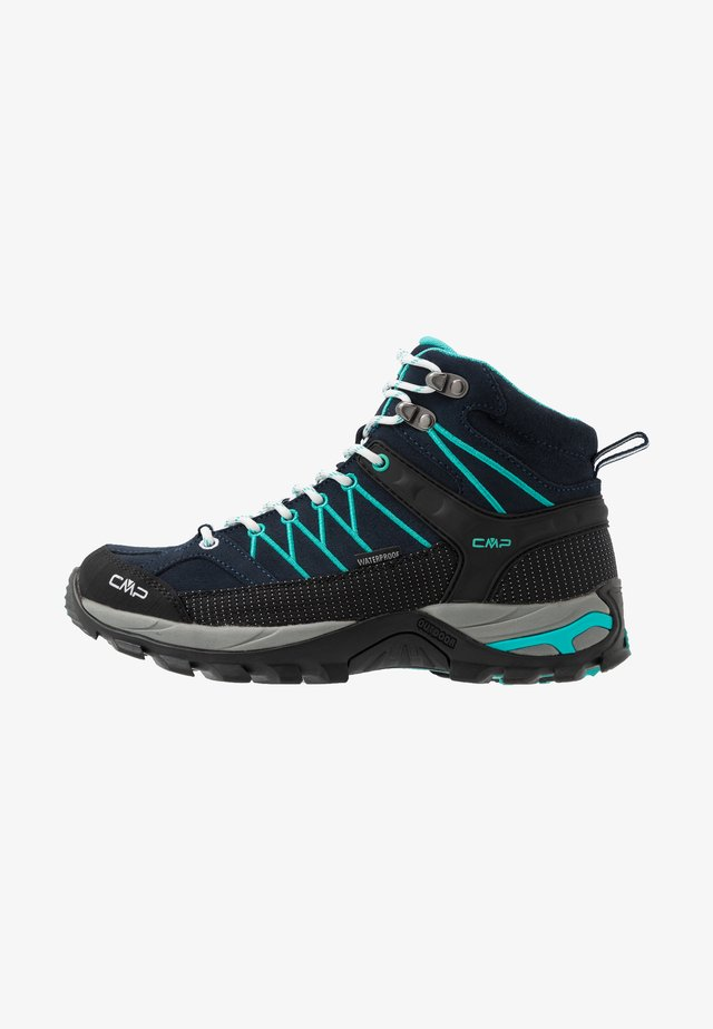 RIGEL MID TREKKING SHOE WP - Hiking shoes - blue/ceramic