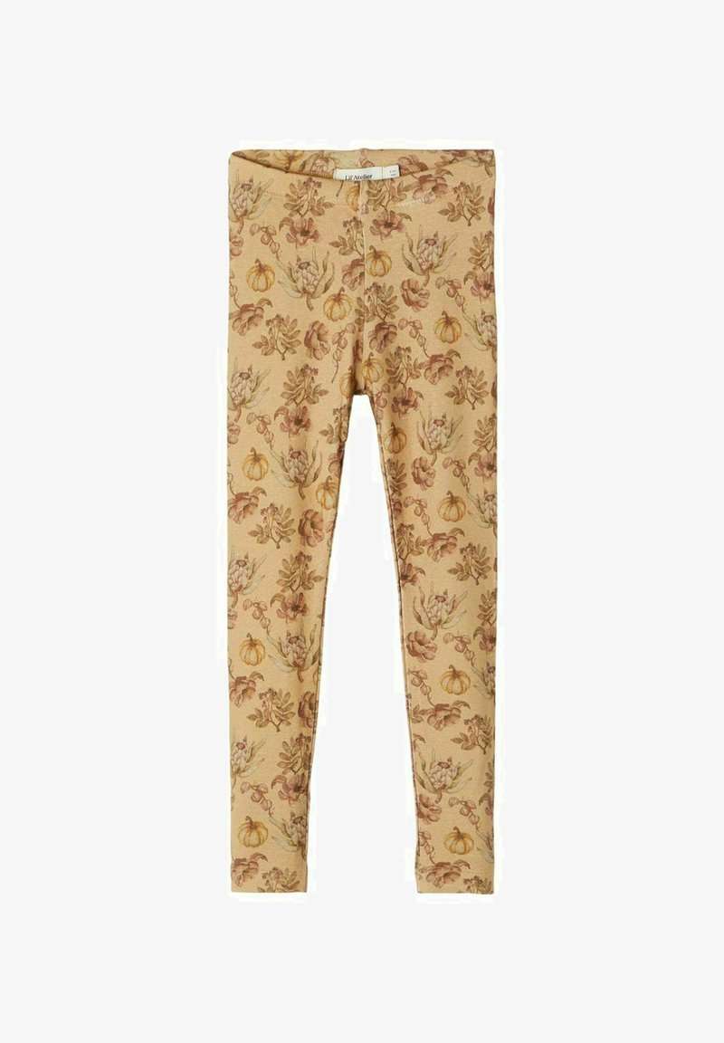 Lil' Atelier - SLIM FIT - Leggings - Trousers - light brown