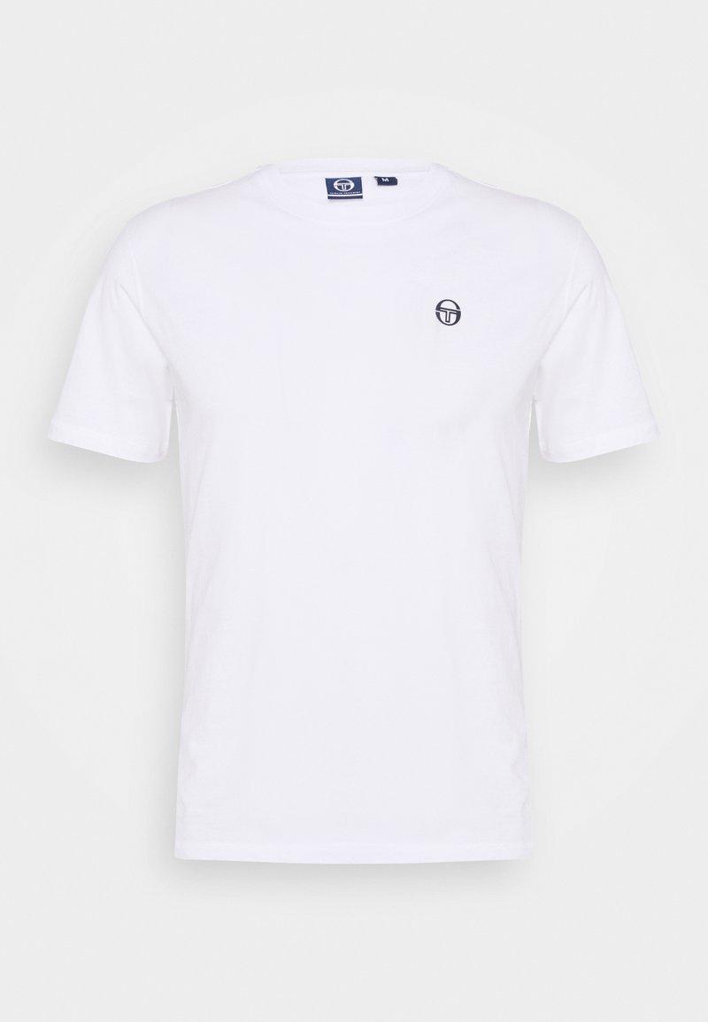 sergio tacchini - RUN - Basic T-shirt - white/navy