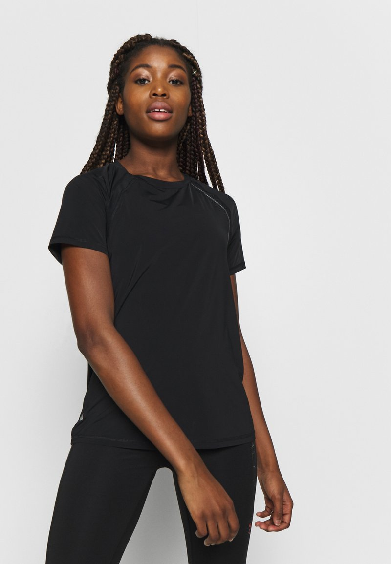 ONLY Play - ONPPERFORMANCE TRAINING LOOSE - T-shirt basic - black/red