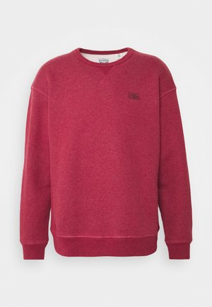 PREMIUM HEAVYWEIGHT CREW - Felpa - biking red heather