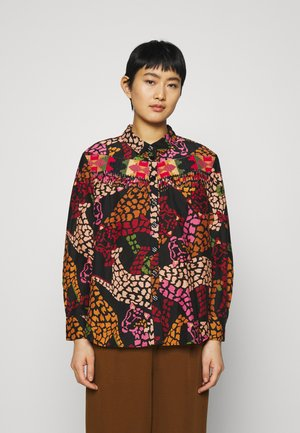 BLACK LEOPARD SHIRT - Button-down blouse - multi