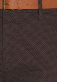 TOM TAILOR - PRINTED CHINO - Chinos - dark brown - 2