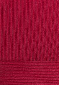Glamorous - PLUNGE TIE WAIST LONG SLEEVE CROP - Topper langermet - red - 5
