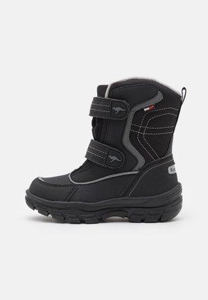 K-LENO V RTX - Snowboots  - jet black/steel grey