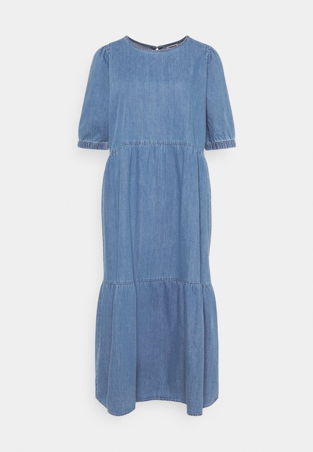 NMSESSI DRESS - Farkkumekko - medium blue denim