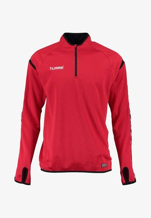 AUTH. CHARGE TRAINING - Long sleeved top - true red