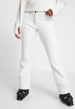 WOMAN LONG PANT WITH INNER GAITER - Ski- & snowboardbukser - bianco