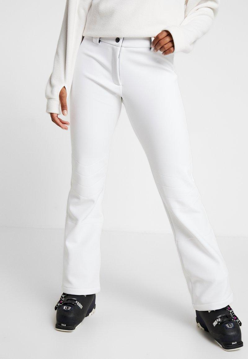 CMP - WOMAN LONG PANT WITH INNER GAITER - Spodnie narciarskie - bianco