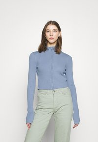 Monki - LISSA CARDIGAN - Cardigan - blue dusty light - 0