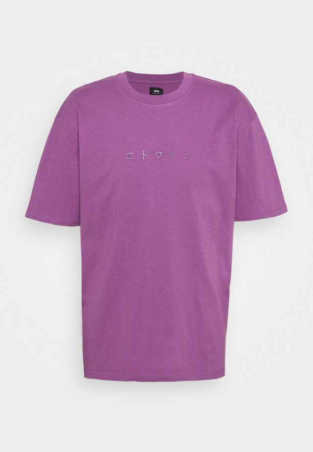 KATAKANA EMBROIDERY - T-shirt con stampa - CHINESE VIOLET
