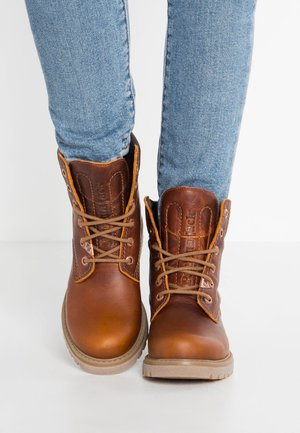 Lace-up ankle boots - grass