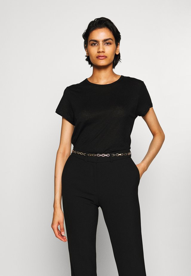HAZEL TEE - T-shirts - black